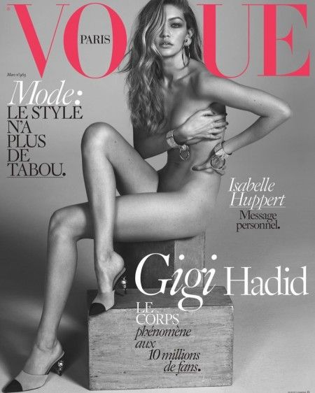 Gigi Hadid by Mert & Marcus for Vogue Paris March 2016 covers