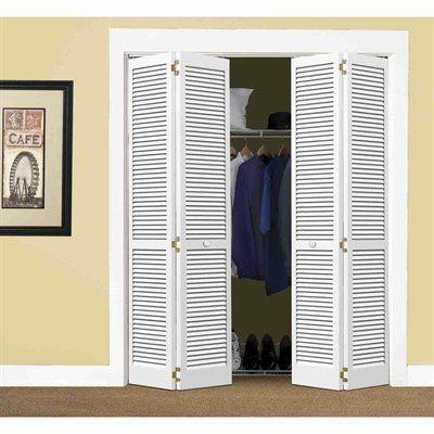 Reliabilt Louvered Solid Core Pine Interior Bifold Closet Door