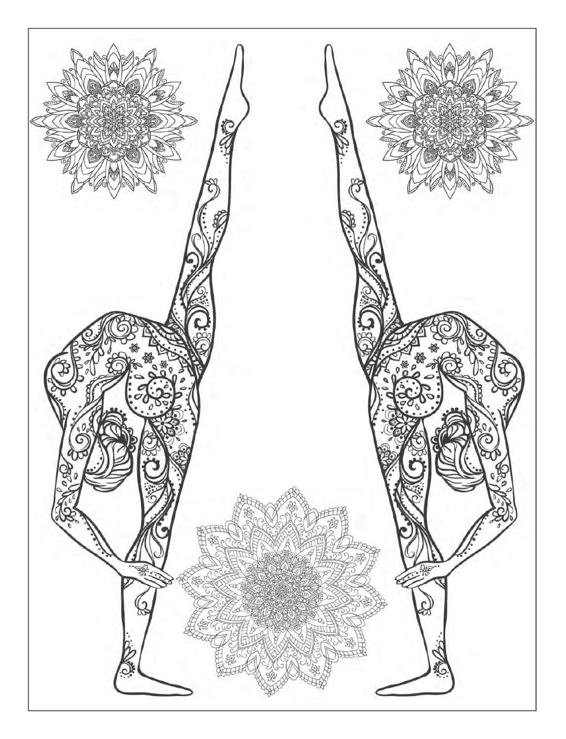 Yoga And Meditation Coloring Book For Adults With Yoga Poses And Mandalas Designs Coloring Books Coloring Pages Coloring Books