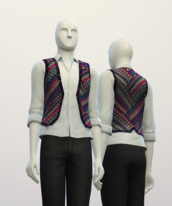 Rusty Nail: Kintted sweater pattern vest • Sims 4 Downloads
