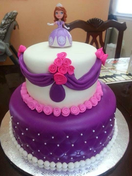 Tortas decoradas con crema infantiles princesa sofia for Tortas decoradas infantiles