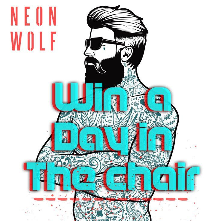 Win A Day In The Chair With Images Tattoo Studio Wolf Tattoo Neon