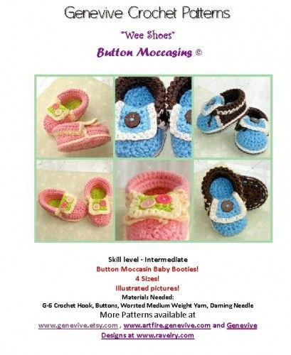Crochet Pattern Baby Moccasins Booties PDF 5