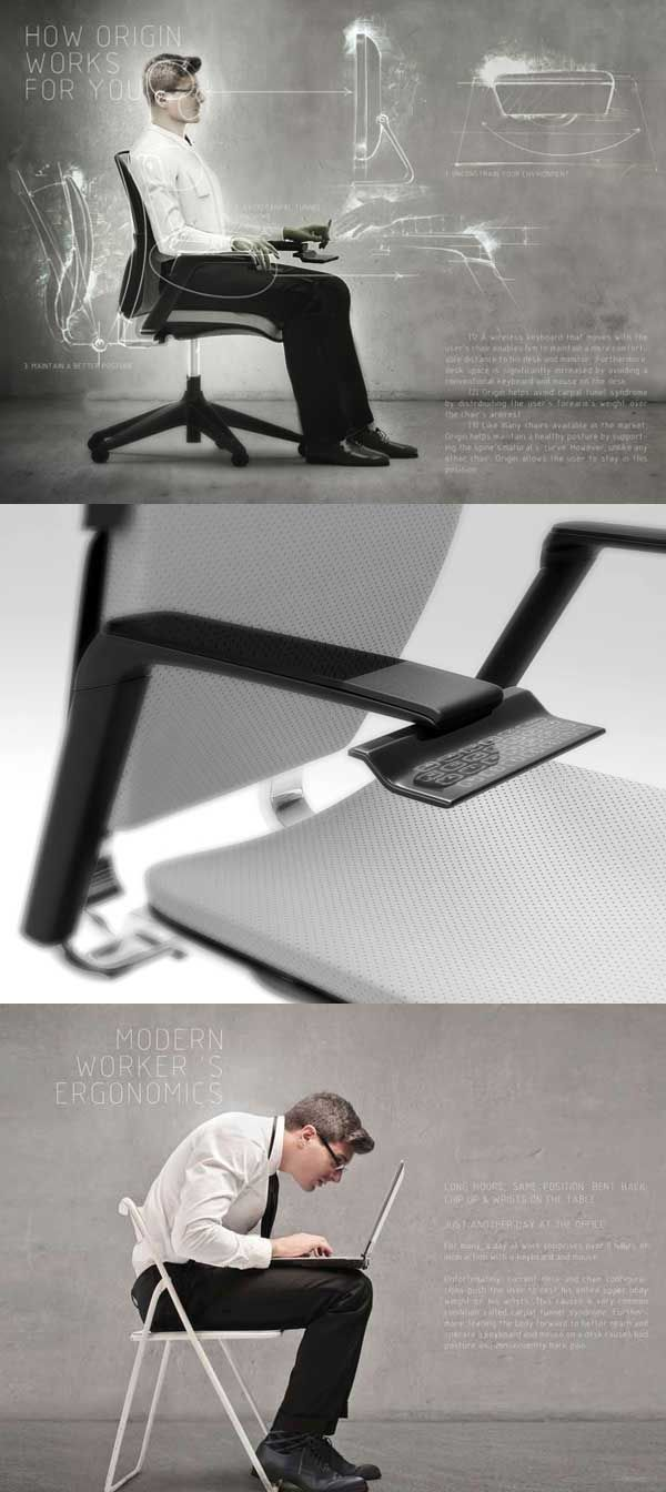 high tech office chair. Keyboard-Integrated Office Chair - Designer Edwin Cruz Had A Vision Of That Would Eliminate The Feeling Being Chained To Your Desk. High Tech