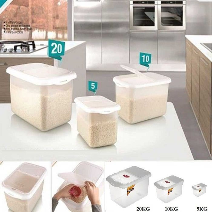 Multi Storage Large Kitchen Container With Clear Glass View. Perfect High  Quality Containers To Store Spices, Masalas, Dry Fruits, Rice, Wheat, Etcu2026
