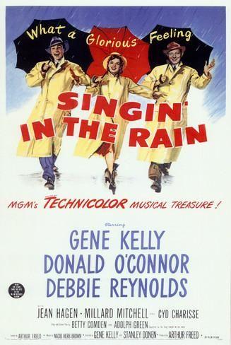 Singin' in the Rain Masterprint is part of Musical movies, Singin' in the rain, Classic movie posters, Vintage movies, Singing in the rain, The rain movie -