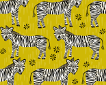 Safari Zebra - Goldenrod by Andrea Lauren