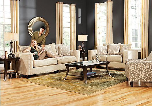 Shop For A Cindy Crawford Home Sidney Road 7 Pc Living Room At Rooms To Go Find Living Roo Rooms To Go Furniture Living Room Sets Living Room Sets Furniture