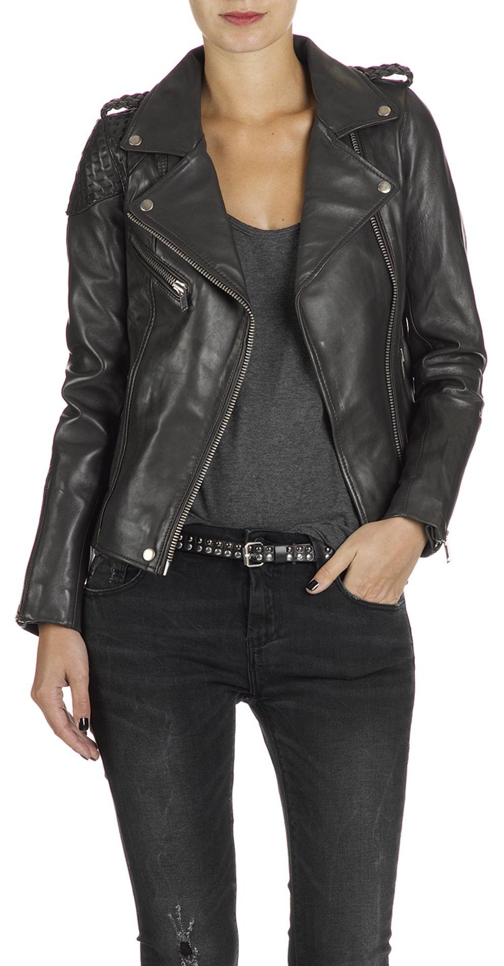 Maje leather biker jacket