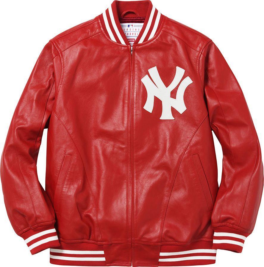 Supreme Leather varsity jackets, New york yankees