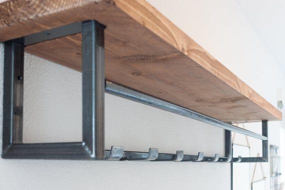 Wooster Wall Shelf & Chain Hook Coat Rack   Regalwand, Haken