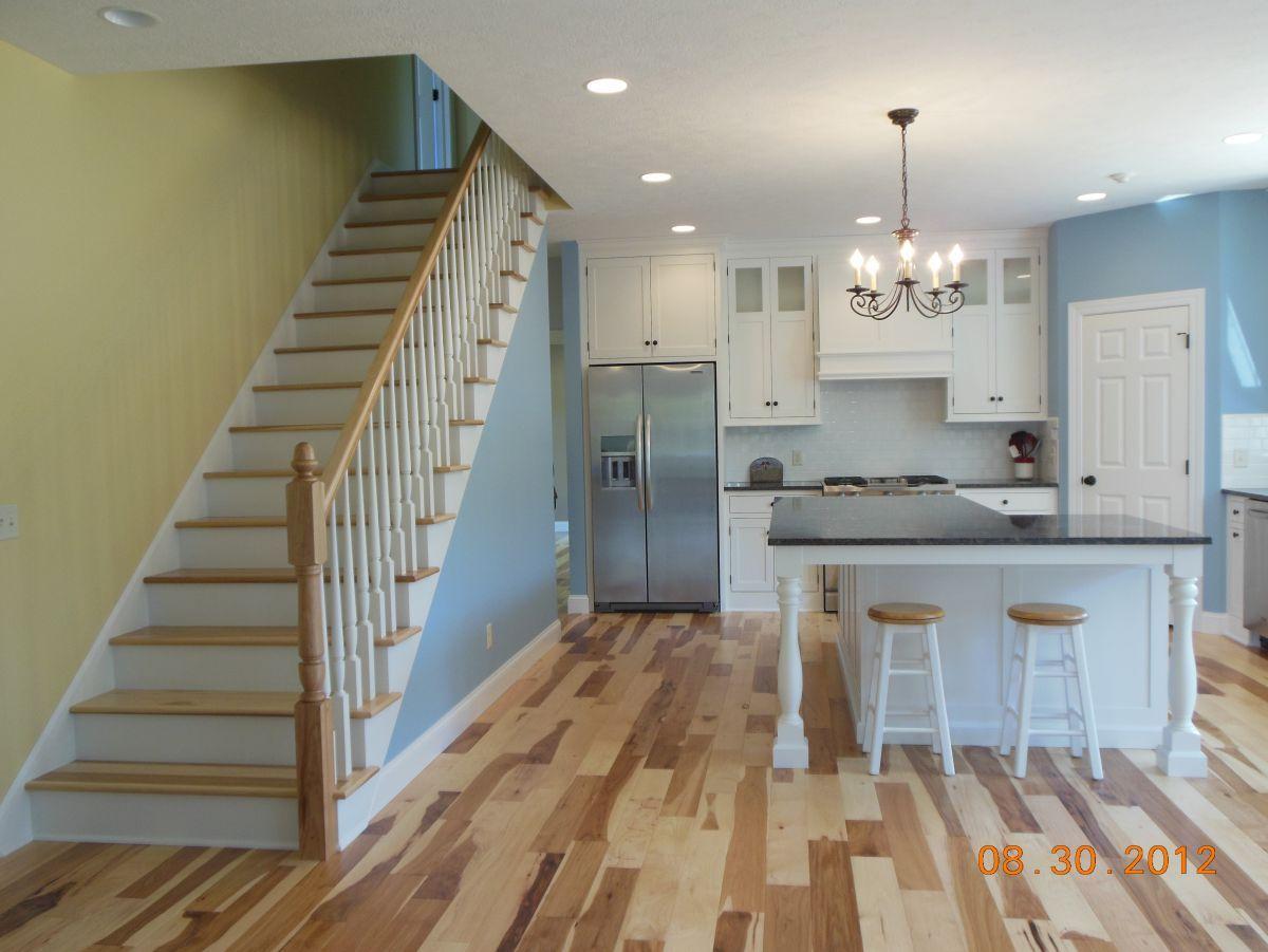 White Kitchen Hickory Floors