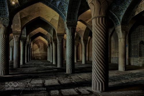 inside of vakil mosque by yvandredi  1100D ancient architecture backpack backpacking blue building canon chiraz contrast history holy ira
