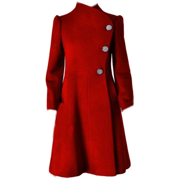 Red Cashmere coat (E47076919) ($129) found on Polyvore | Put on a ...
