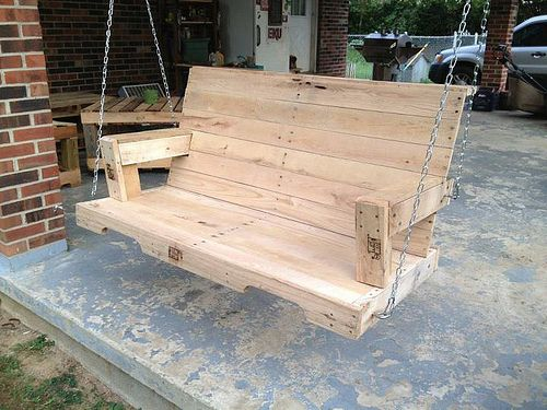 Pallet Swing With Images Porch Swing Pallet Pallet Porch Diy