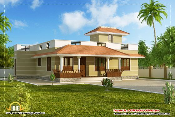 Beautiful Single Story Kerala Model House 1395 Sq Ft Kerala House Design Car Porch Design Porch Design