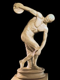 The Discobolos is one of the most famous Greek statues from the ...