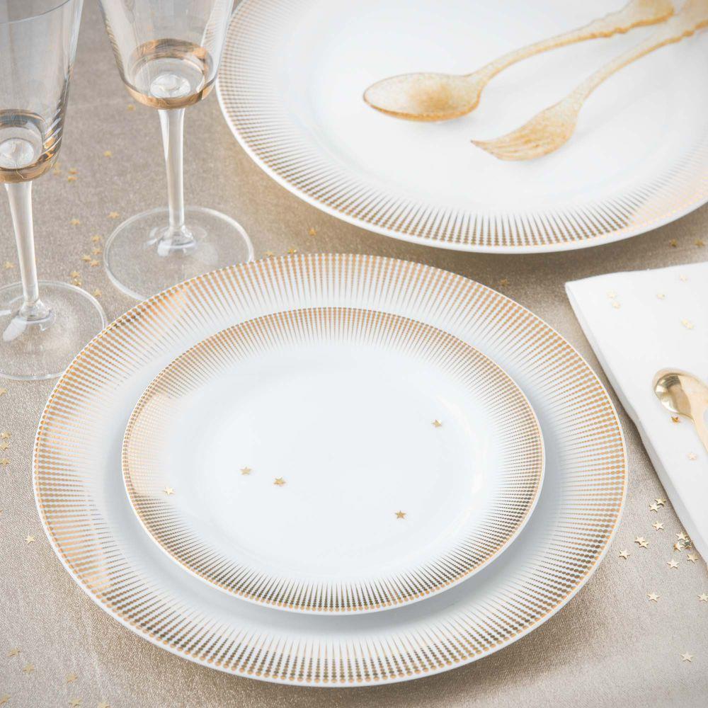 assiette de pr sentation en porcelaine d 31 cm versailles maisons du monde tableware
