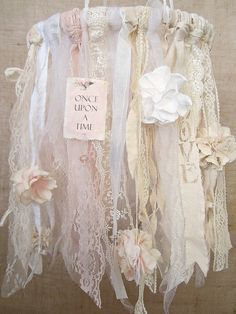 Baby Mobile, Baby Girl Mobile, Shabby Chic Nursery Decor, Shabby Chic Baby Nursery Decor, Vintage Baby Girl Nursery Decor, Boho Decor