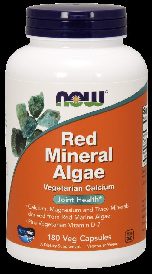 Red Mineral Algae Veg Capsules Vitamins for vegetarians