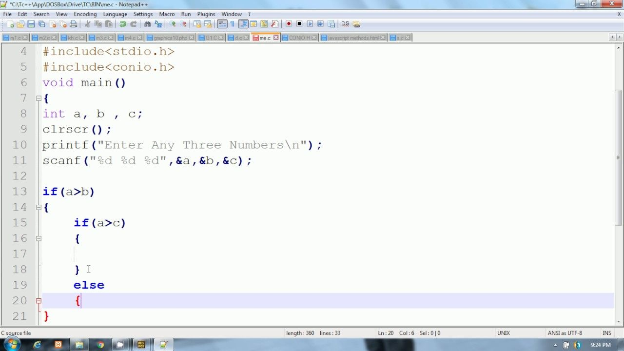C Programming In Hindi | Example of Nested if else statement