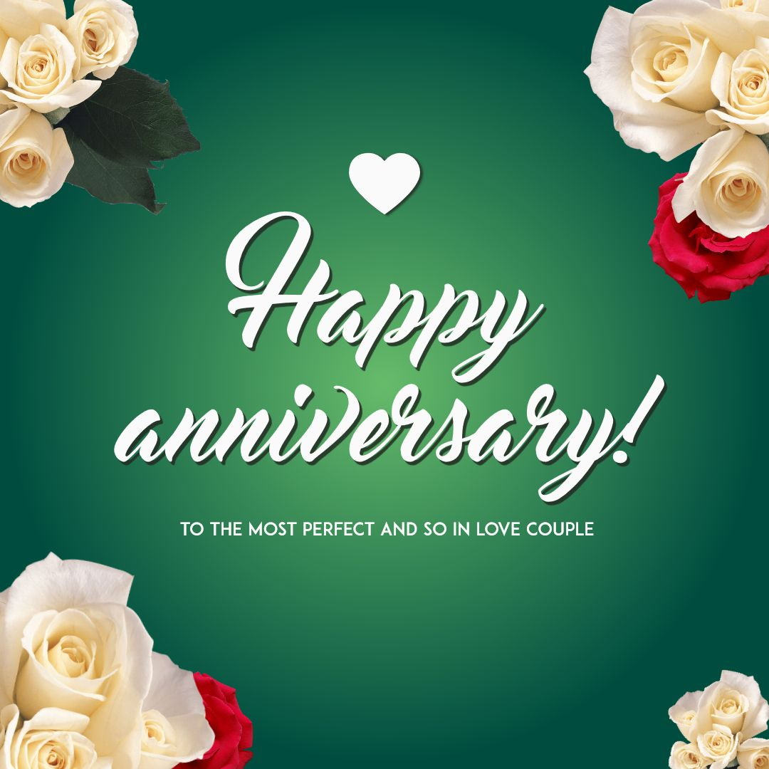 Happy Anniversary Card Template Design Template 1454941