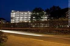 The Modern Altstadt Garage Building by Lussi + Halter Reuses Lane Dividers #architecture trendhunter.com