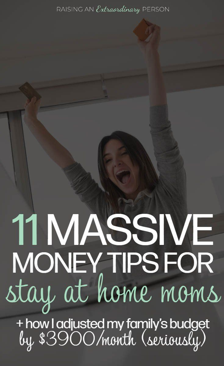 11 Money Tips for Stay At Home Moms #stayathome
