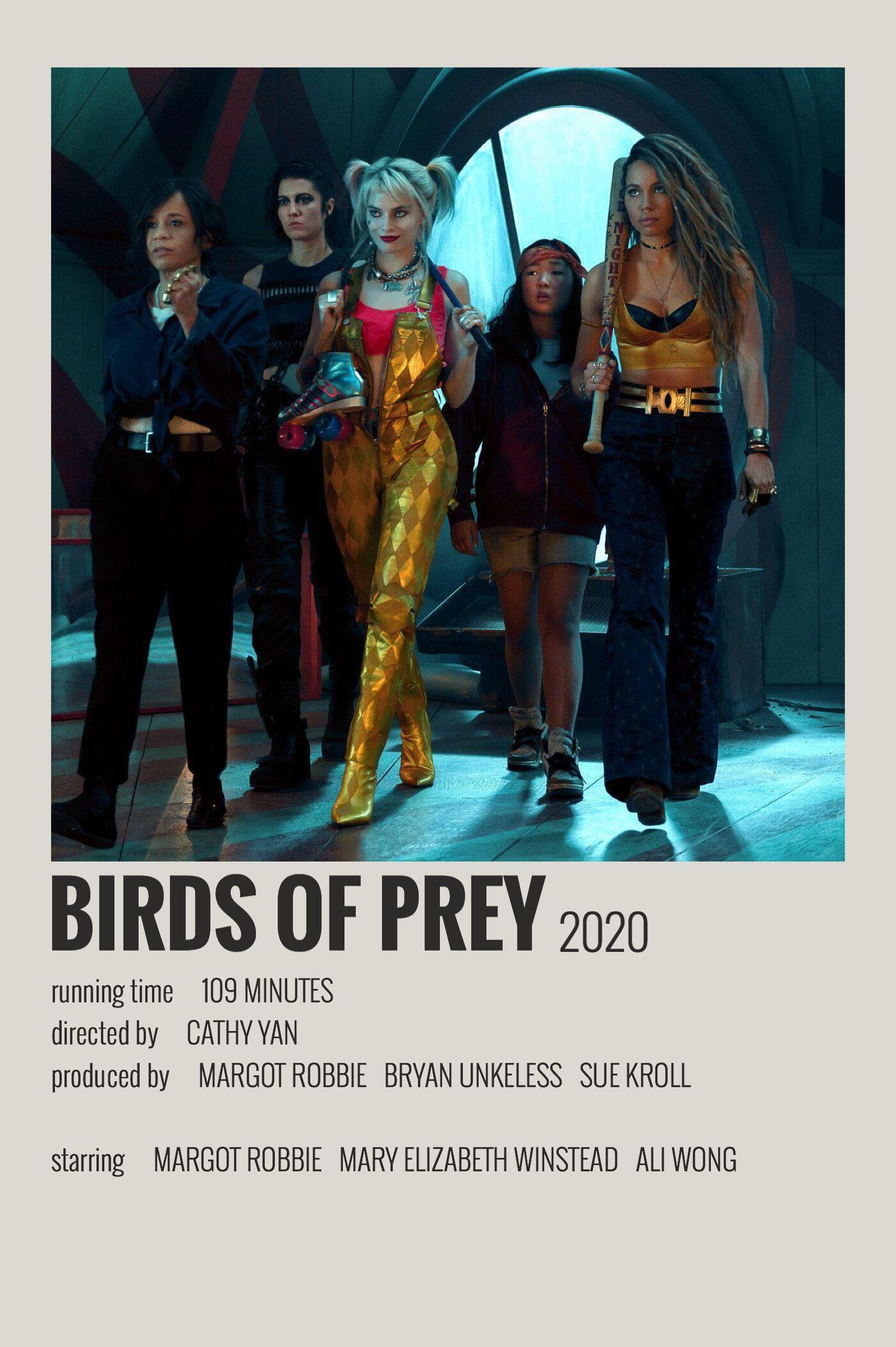 Birds Of Prey By Maja In 2020 Film Posters Minimalist Movie Poster Wall Movie Posters Minimalist