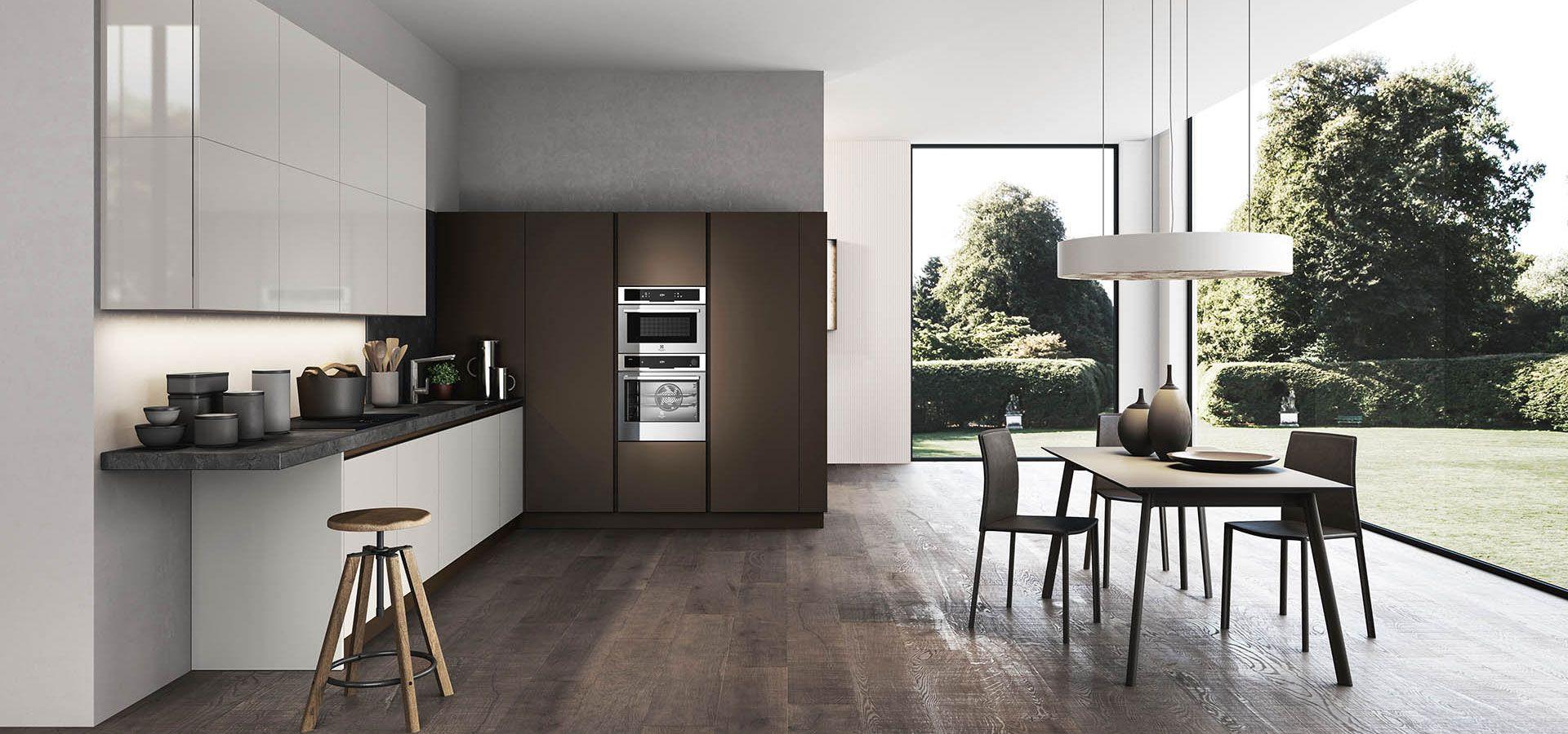 cucina moderna - time finiture: nebbia opaco, nebbia lucido ... - Cucina Febal Light La Qualita Accessibile