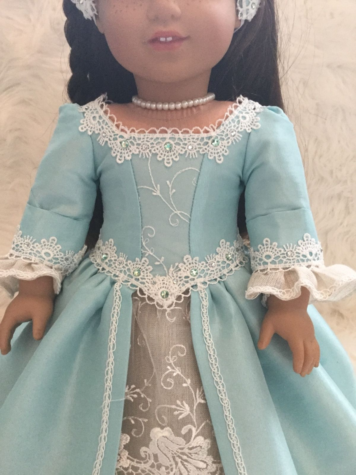 historical doll dress ( fits American girl doll ) #historicaldollclothes