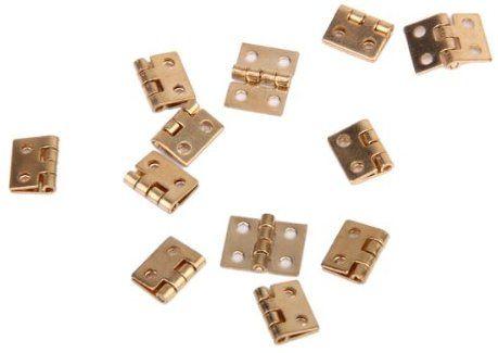 12pcs Armadietto Armadio Mini Cerniera Per 1 12 Di Mobilia