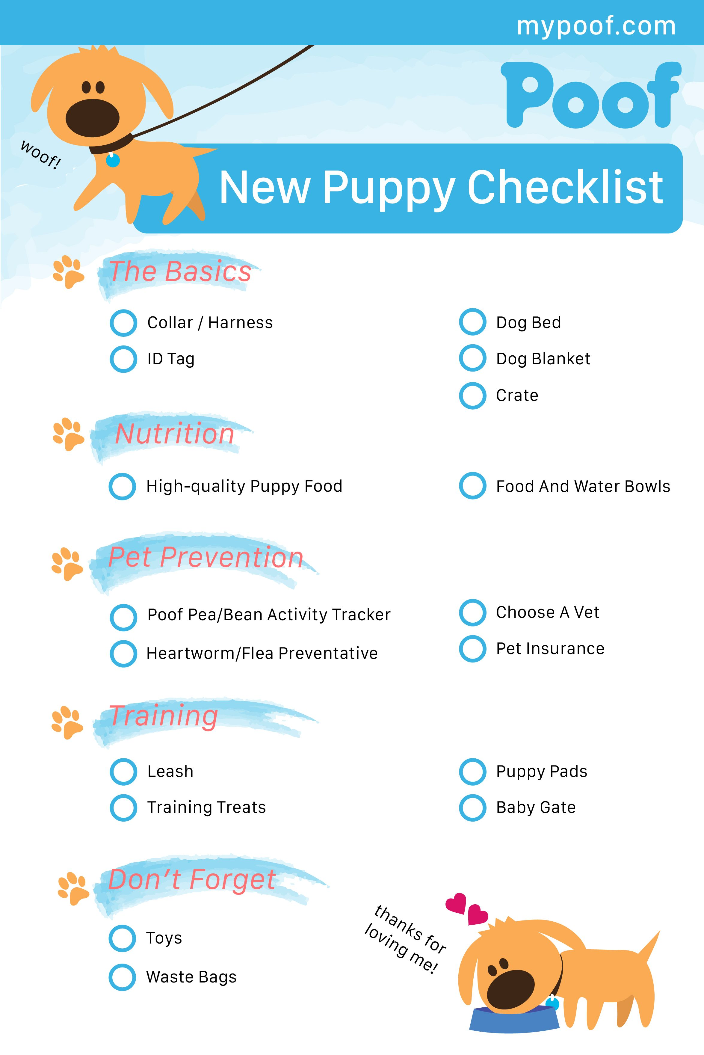 New Puppy Checklist Puppies New Puppy Checklist Puppy