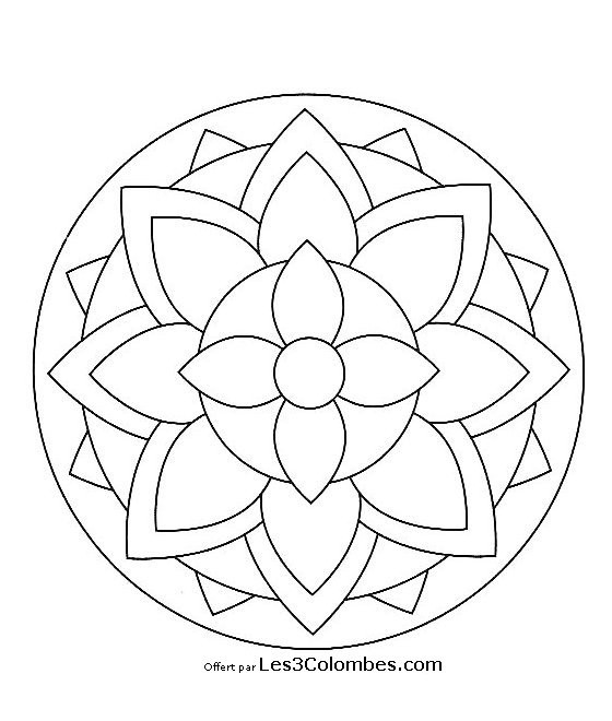 Coloriage D Anniversaire En Ligne Inspirational 20 Dessins De Coloriage Mandala En Ligne A Imprimer En 2020 Coloriage Mandala Mandala Enfant Coloriage Mandala Facile