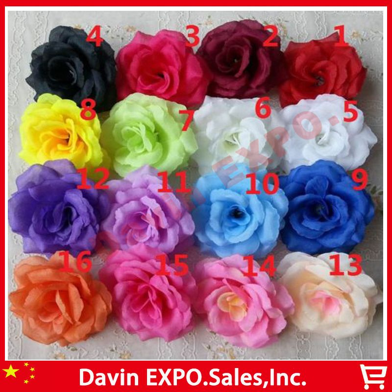 Can mix color new 50pcs artificial rose silk flower heads can mix color new 50pcs artificial rose silk flower heads decoration for wedding party banquet decorative flowerschina mainland mightylinksfo