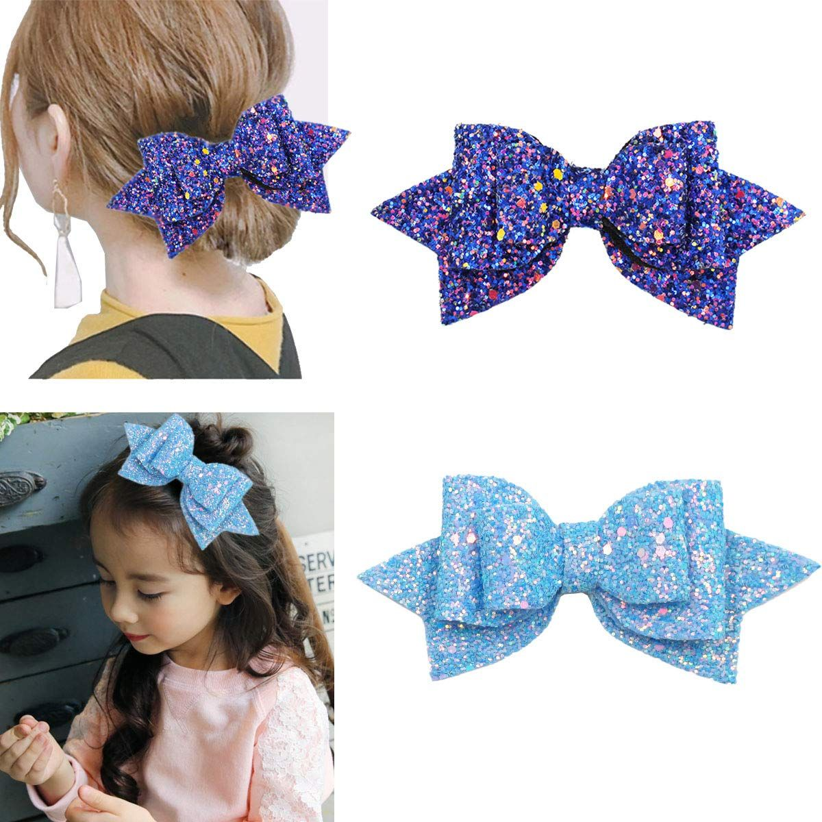 20 Pack Bowknot Hair Bow Alligator Hair Clips Barrettes for Baby Girl Toddlers