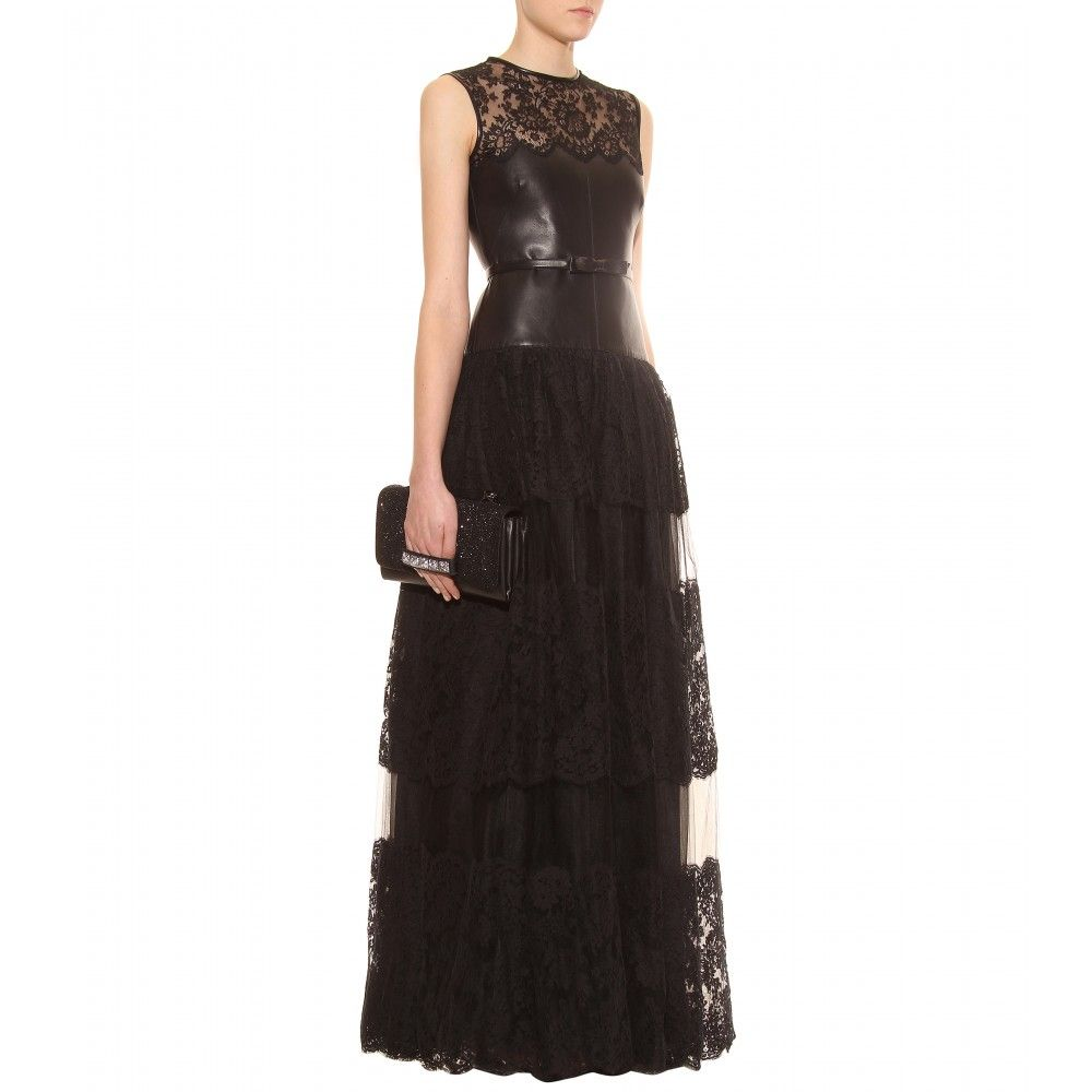 Valentino lace and leather evening gown | Black Tie Event ...