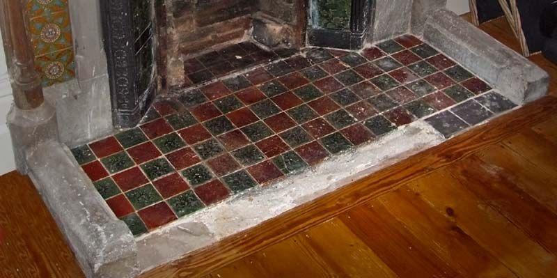 red and green tile hearth inspiration for 1952. Black Bedroom Furniture Sets. Home Design Ideas