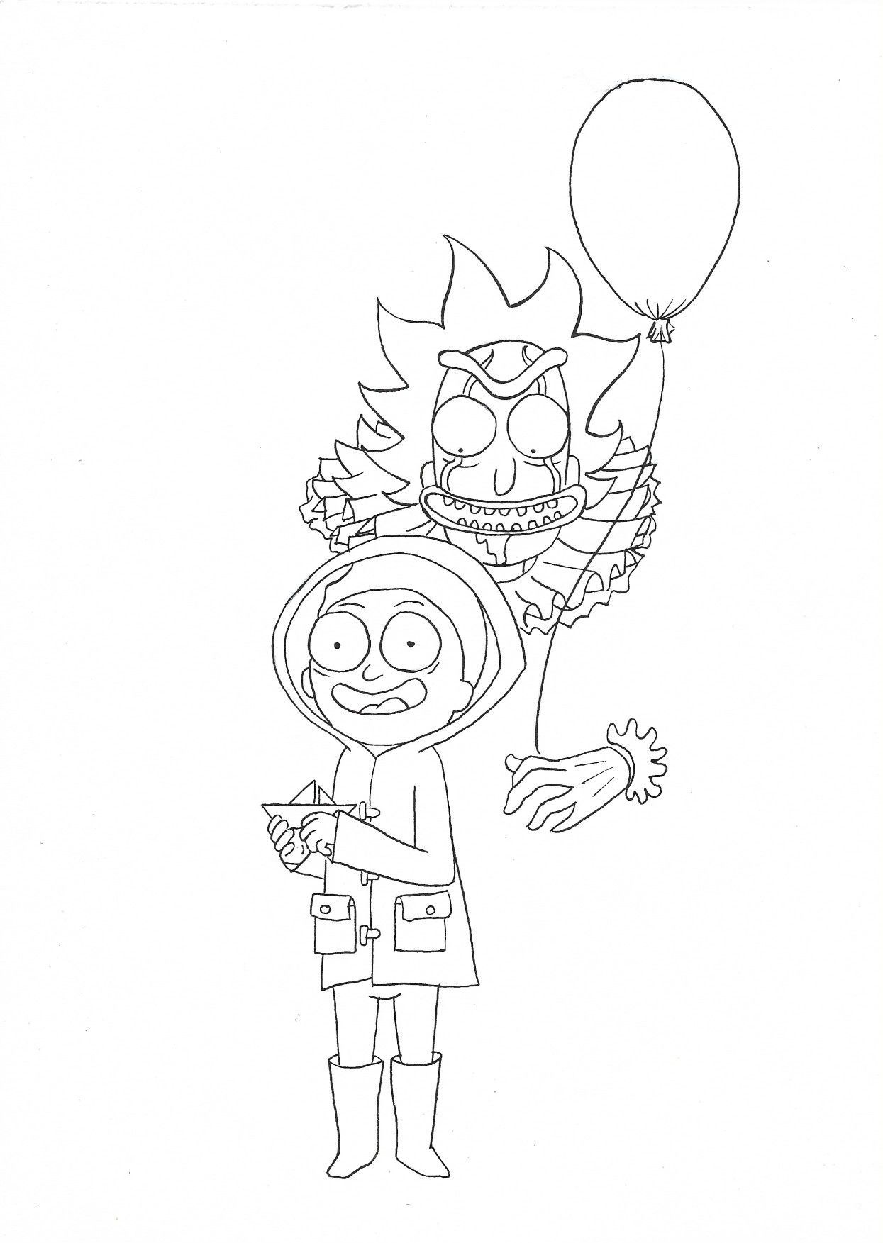 Rick And Morty Coloring Pages Rick And Morty Drawing Rick And Morty Tattoo Rick And Morty Poster