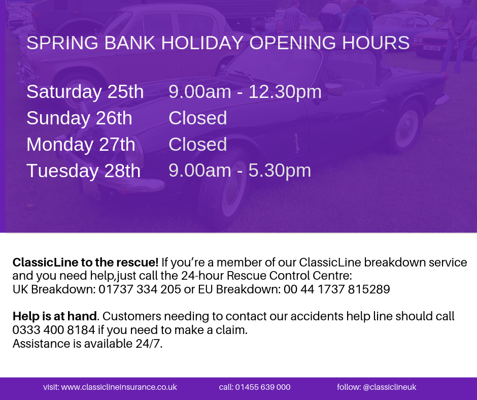 Here Are Our Spring Bank Holiday Weekend Opening Hours And Your 24