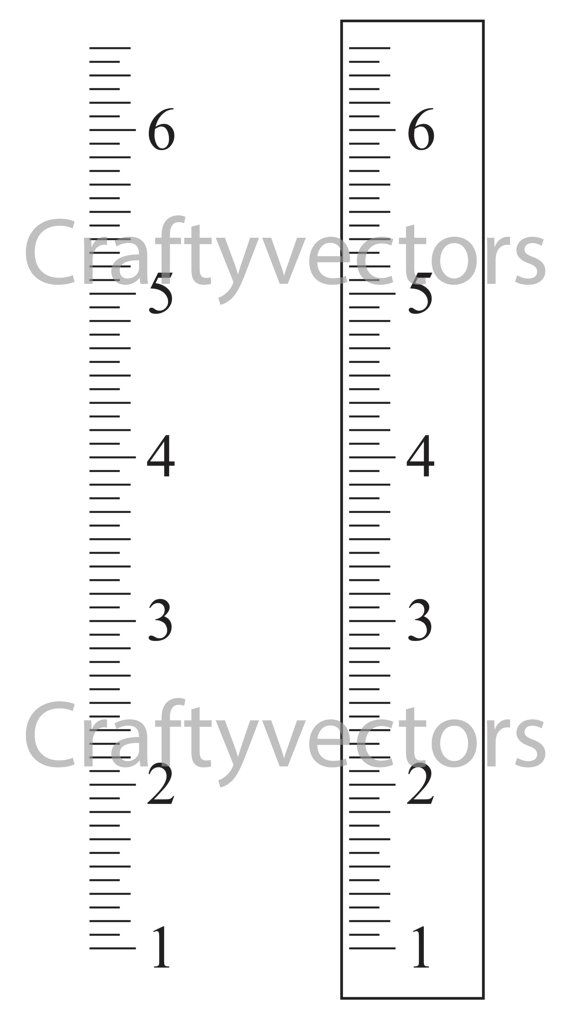 Ruler growth chart vector template svg by craftyvectors on etsy also inches craft pinterest rh