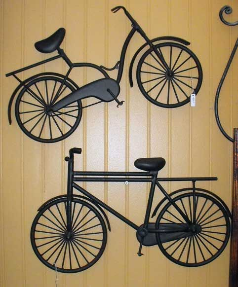 Metal Bicycle Wall Art From Hobby Lobby Spray Painted Of Course Bicycle Wall Art Wall Art Wall Collage