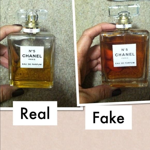 Chanel No5 Perfume Comparison Of Real Vs Fake Just A Picture To