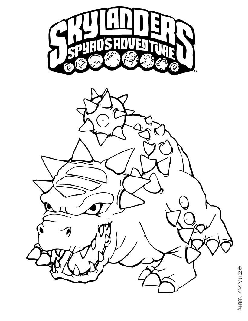 Skylanders Spyro S Adventure Coloring Pages Bash Coloring Pages Coloring Pages For Boys Cool Coloring Pages