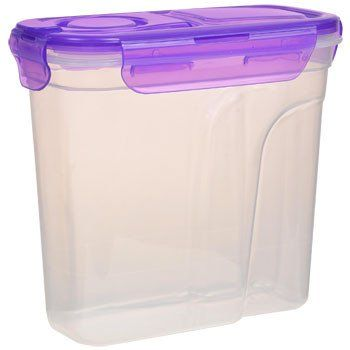 Sure Fresh Dry Food Storage Container With Clip Lock Lid 50 Oz Flour Storage Container Diy Storage Containers Food Storage Containers