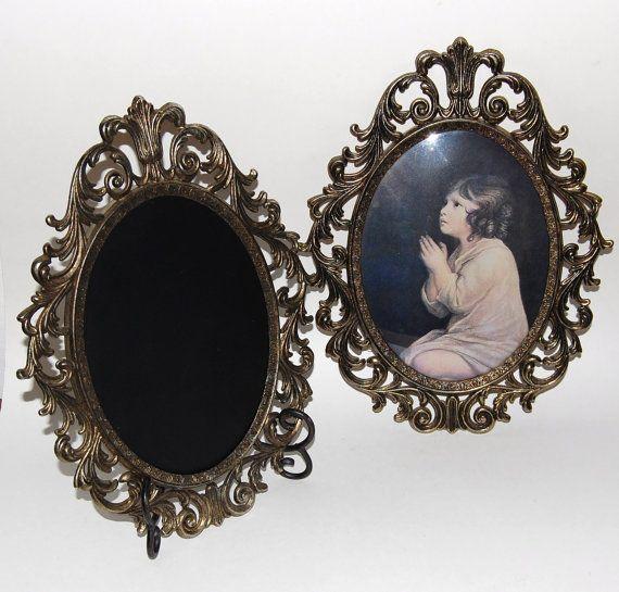 Gold Ornate Frame, Vintage Chalkboard Frame, Brass Frame, Wedding Centerpiece, Wedding Sign, Dessert Table Sign, Vintage, Wedding Keepsake