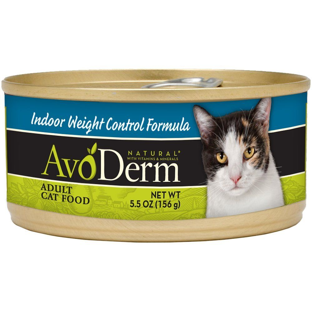 AvoDerm Natural Indoor Weight Control Cat Food 5 5 Ounce Cans