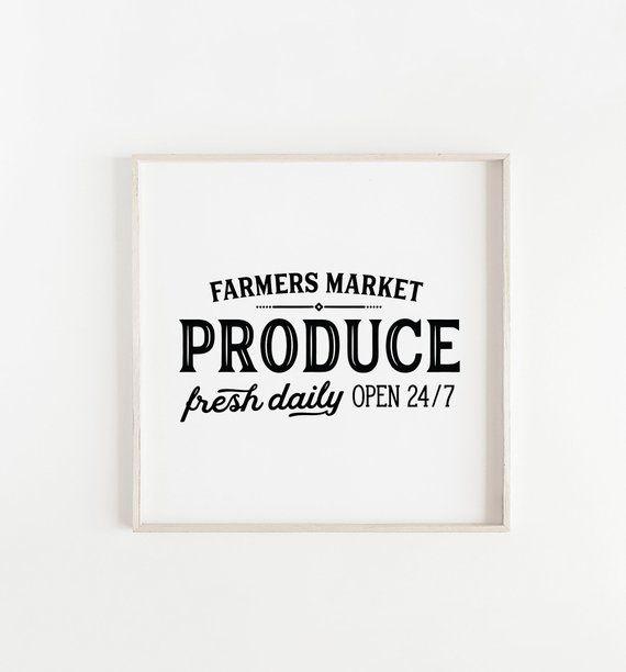 05af5d6d67a Farmers Market Print Kitchen printModern Farmhouse Decor