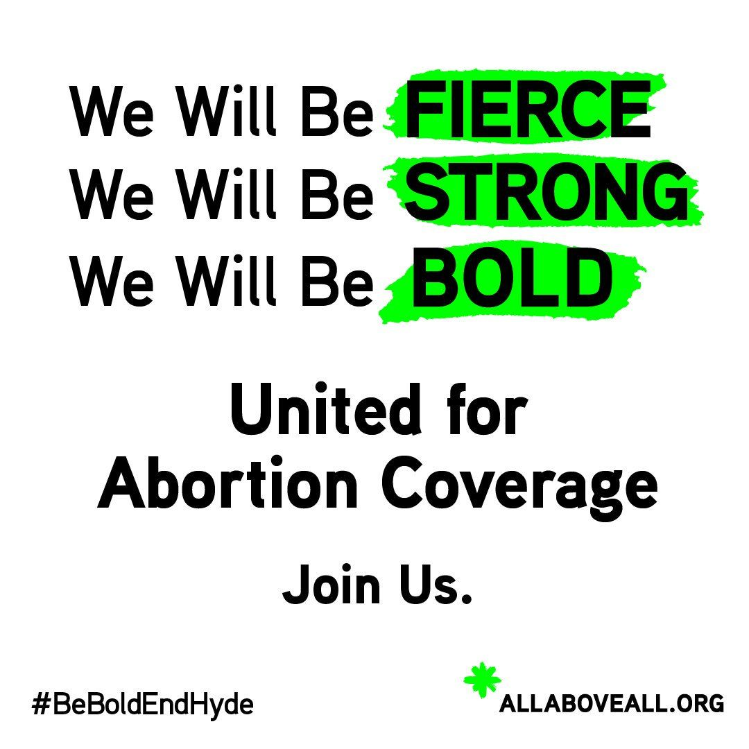 We Will Be BOLD. We Won't Be PUNISHED. We will resist the Trump-Pence agenda to punish poor women who need abortion care.    ---    All* Above All (@AllAboveAll)   Twitter