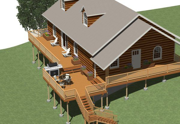 Building a Multi-Level Deck | Chief Architect Help Database #sideporch